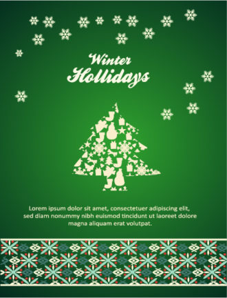 Christmas Vector illustration with Christmas Tree Vector Illustrations tree