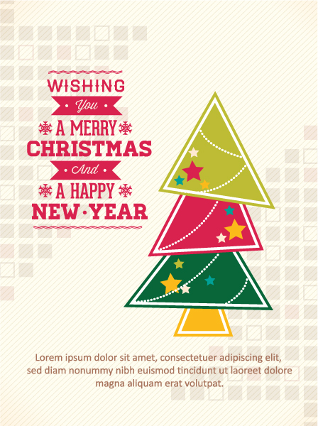 Illustration Vector Design: Christmas Vector Design Illustration With Christmas Tree 5