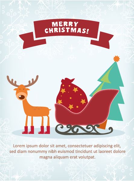 Christmas Vector illustration with deer Vector Illustrations old