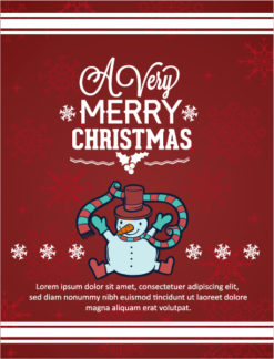 Christmas Vector illustration with snowman Vector Illustrations old