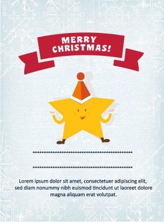 Christmas Vector illustration with star Vector Illustrations star