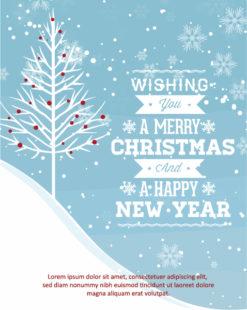 Christmas Vector illustration with christmas tree Vector Illustrations tree