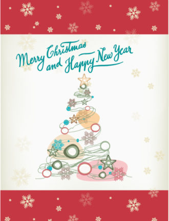 Christmas Vector illustration christmas tree Vector Illustrations star