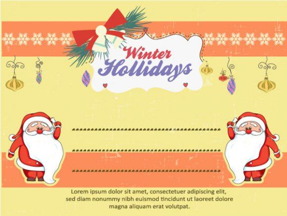 Christmas Vector illustration with santa Vector Illustrations star
