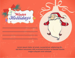 Christmas Vector illustration with santa Vector Illustrations star
