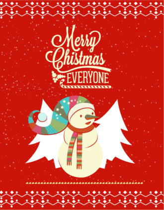Christmas Vector illustration with snowman Vector Illustrations star
