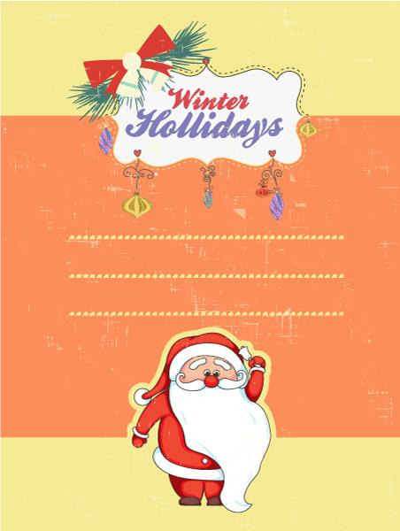 Christmas Vector illustration with santa 2015 03 03 366