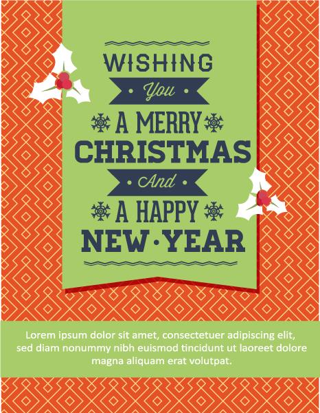 Christmas Vector illustration with ribbon Vector Illustrations tree