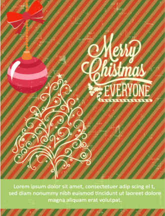 Christmas Vector illustration  with tree and globe Vector Illustrations tree