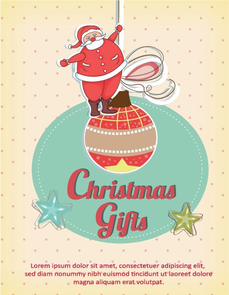 Christmas Vector illustration with christmas globe Vector Illustrations tree