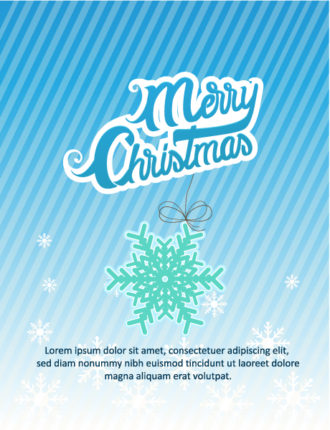 Christmas Vector illustration  with snowflake Vector Illustrations tree