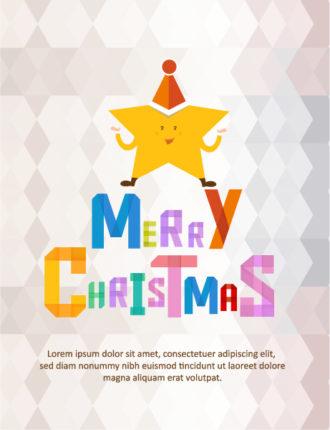 Christmas Vector illustration with christmas star Vector Illustrations tree