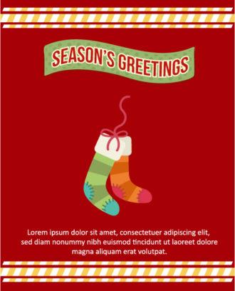 Christmas Vector illustration  with sock, ribon Vector Illustrations tree