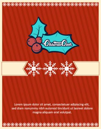 Christmas Vector illustration  with snowflake, mistletoe, Vector Illustrations tree