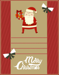 Christmas Vector illustration  with santa and bells Vector Illustrations tree