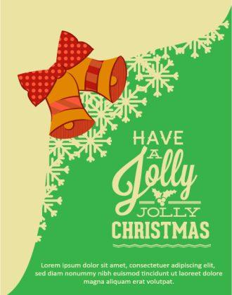 Christmas Vector illustration with Christmas bells and snowflake Vector Illustrations vector