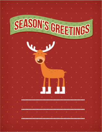 Christmas Vector illustration with deer Vector Illustrations vector