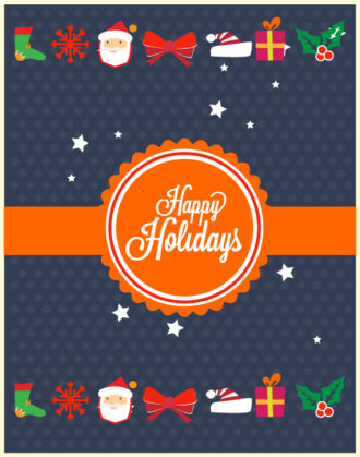 Christmas Vector illustration with  badge and ribbon Vector Illustrations vector