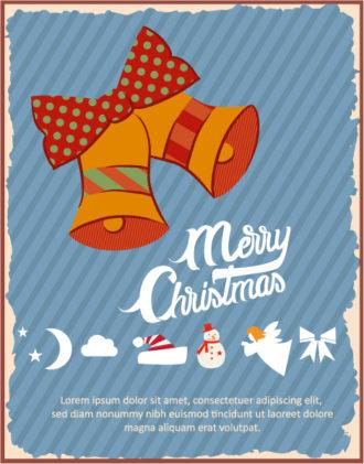 Christmas Vector illustration with  christmas bells Vector Illustrations vector