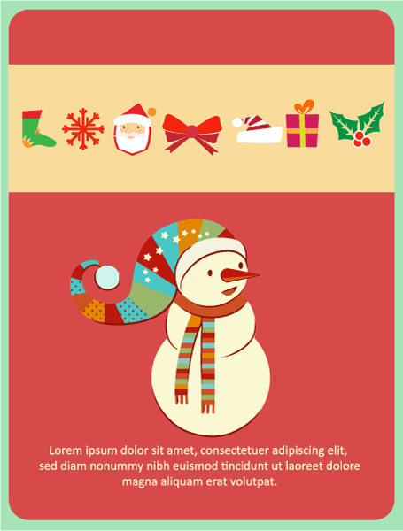 Buy Illustration Eps Vector: Christmas Eps Vector Illustration With Snowman, 2015 03 03 496