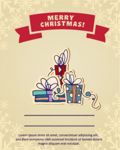 Christmas Vector illustration with christmas gift Vector Illustrations vector