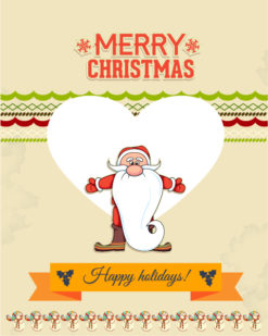 Christmas Vector illustration with santa and  heart Vector Illustrations star