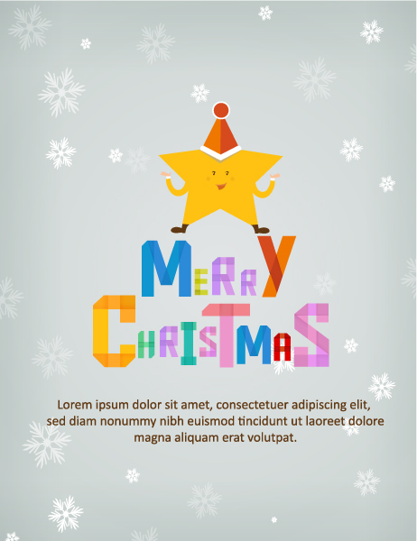 Christmas Vector illustration with star and gift Vector Illustrations star