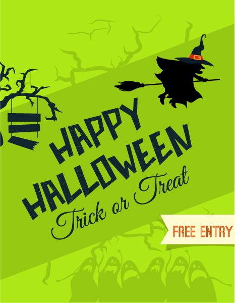 Vector Vector Illustration: Halloween Vector Illustration Illustration  With Witch And Tree 2015 03 03 545