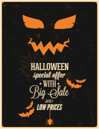 Halloween Vector illustration  with bat, Vector Illustrations vector