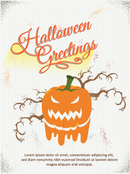 Halloween Vector illustration  with zombies Vector Illustrations tree