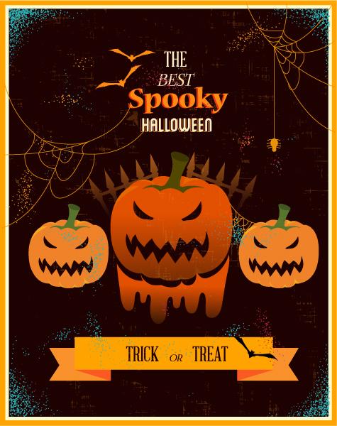 Halloween, Illustration Vector Art Halloween Vector Illustration   Pumpkin, Ribbon, 2015 03 03 552