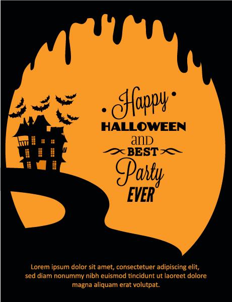 Abstract-2, Vector Eps Vector Halloween Vector Illustration   Castle 2015 03 03 555