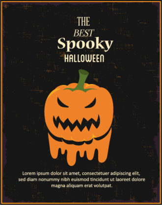 Halloween Vector illustration  with pumpkin Vector Illustrations vector