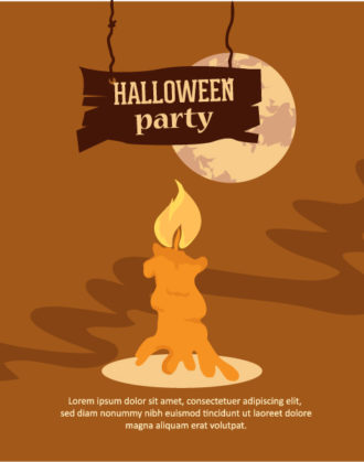 Halloween Vector illustration with candle and moon Vector Illustrations vector