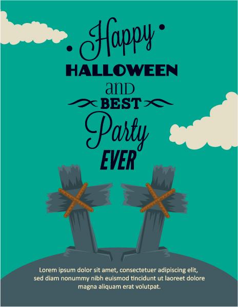 Halloween Vector illustration with cross Vector Illustrations star