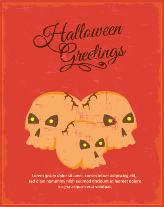 Halloween Vector illustration with skull Vector Illustrations star