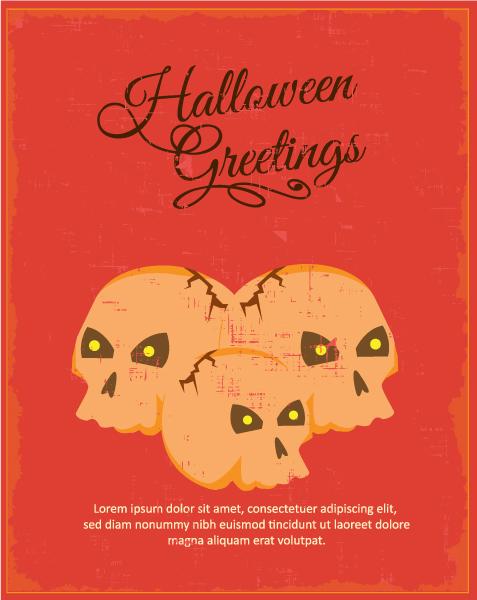 Illustration Vector Design Halloween Vector Illustration  Skull 2015 03 03 574