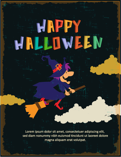 Vector Vector Graphic Halloween Vector Illustration  Witch 2015 03 03 575