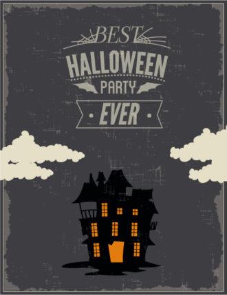 Halloween Vector illustration with castle Vector Illustrations star