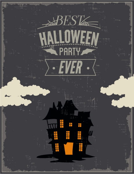 Halloween Vector illustration with castle Vector Illustrations star