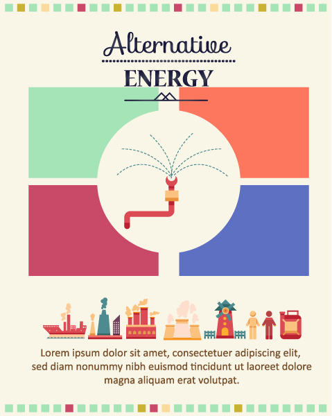 Vector illustration  with industrial element Vector Illustrations vector