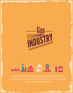 Vector illustration with  industrial elements Vector Illustrations vector