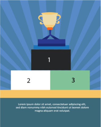 Vector illustration with trophy Vector Illustrations vector