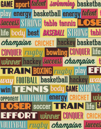 Vector illustration with sport typography Vector Illustrations vector