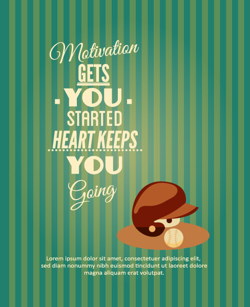 Vector illustration with sport typography element Vector Illustrations vector