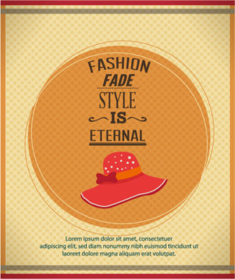 Vector illustration with fashion typography Vector Illustrations vector
