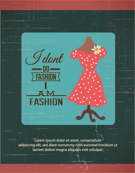 Illustration, Dress, Decorative, Typography Vector Design Vector Illustration  Fashion Typography  Lady Dress 1