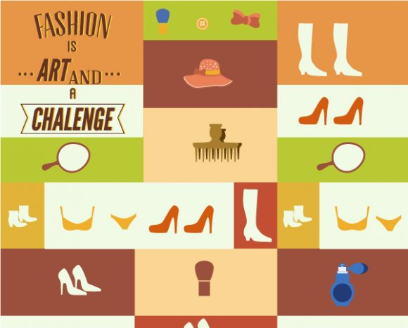 Vector illustration with fashion elements 2015 03 03 699