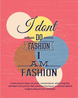 Vector illustration with fashion  fashion elements Vector Illustrations vector