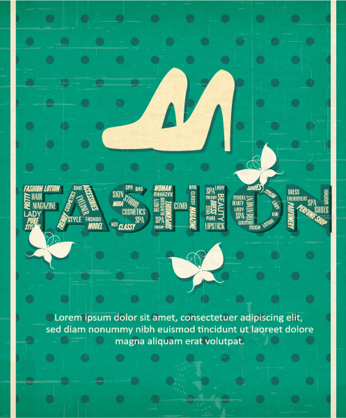 Vector illustration with shoes and butterfly Vector Illustrations vector
